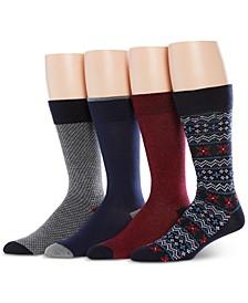Men's 4-Pk Fair Isle Socks