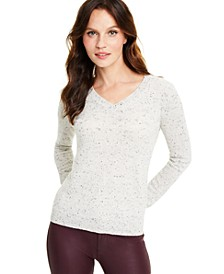 Donegal V-Neck Cashmere Sweater, Regular & Petite Sizes, Created for Macy's