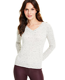 Charter Club Donegal V-Neck Cashmere Sweater, Regular & Petite Sizes, Created for Macy's