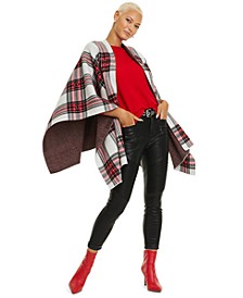 Tartan Plaid Cashmere Cape, Created for Macy's