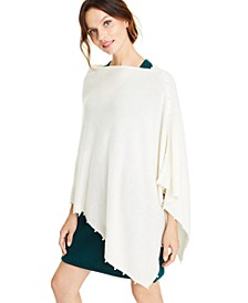 Cashmere Faux-Pearl Asymmetrical Poncho, Created for Macy's