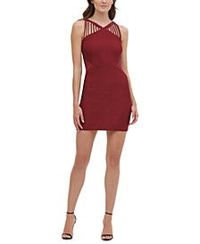 Strappy-Neck Bodycon Dress