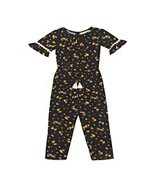 Little Girl Printed Jumpsuit