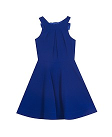 Big Girl Scuba Crepe Halter Dress