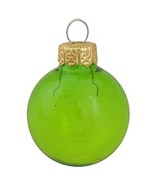 Clear Christmas Ornaments, Box of 12