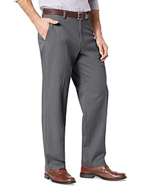 Relaxed Fit Easy Pleated Khaki Pants