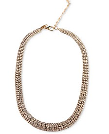 "INC Gold-Tone Rhinestone Mesh Collar Necklace, 15"" + 4"" extender, Created for Macy's"