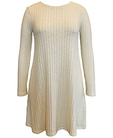 Hacci Ribbed Brushed Swing Dress, Created for Macy's