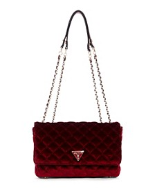 Cessily Velvet Convertible Shoulder Bag