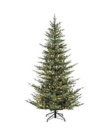 """4.5"""" Pre-Lit Natural Fir Artificial Christmas Tree"""