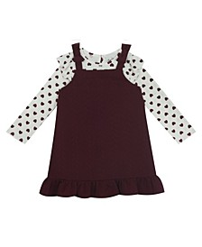 Toddler Girl Knit Jumper With Printed Top