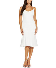 Adrianna Papell Sequined Cowlneck Slip Dress