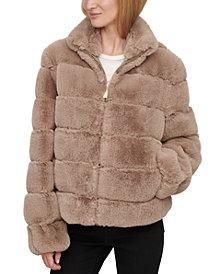 Calvin Klein Faux-Fur Zip-Front Coat