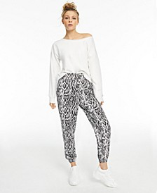 CULPOS x INC Snake-Print Casual Pants, Created for Macy's