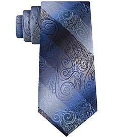 Men's Slim Ombré Paisley Stripe Tie