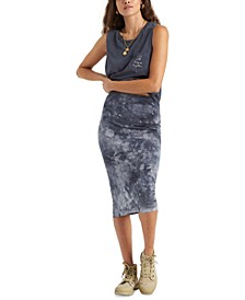 Juniors' Go Along Tie-Dyed Midi Skirt