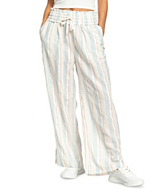 Juniors' Little Loving Striped Wide-Leg Pants
