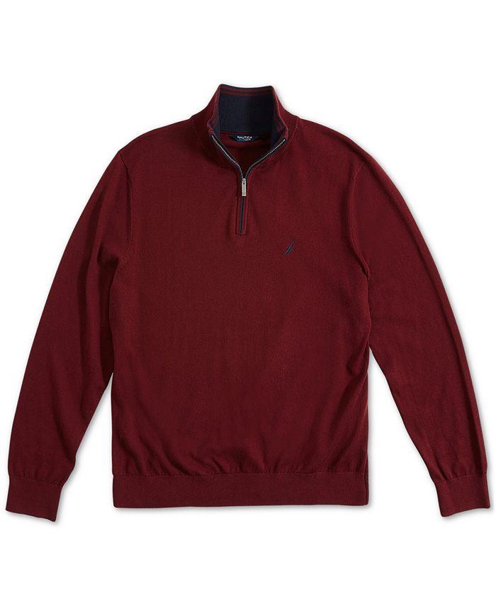 Nautica - Men's Navtech Classic-Fit 1/4-Zip Sweater
