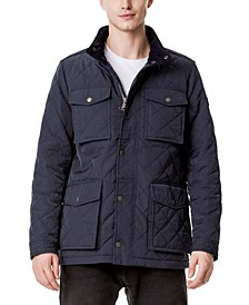 Men's Quilted Oversized Pocket Quilted Jacket, Created for Macy's