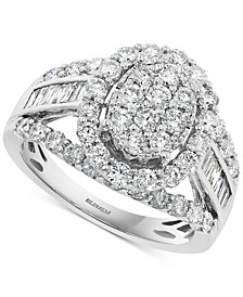 EFFY® Diamond Cluster Ring (2 ct. t.w.) in 14k White Gold