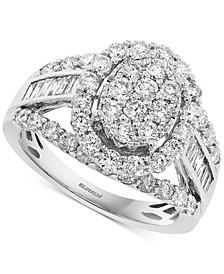 EFFY® Diamond Cluster Ring (2 ct. t.w.) in 14k White Gold