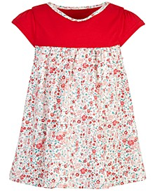 Baby Girls Holiday Colorblocked Ditsy Floral Tunic, Created for Macy's