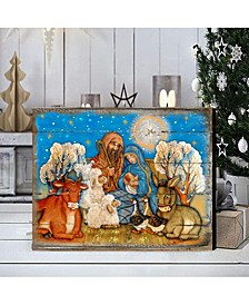 Nostalgic Nativity by G. DeBrekht Handcrafted Wall and Home Decor