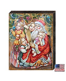 Wish List Santa by G. DeBrekht Handcrafted Wall and Home Decor