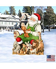 by Susan Winget Merry Christmas Santa, Wall and Lawn Decor