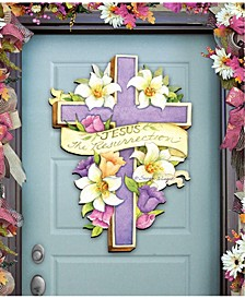 by Susan Winget Easter Cross He is Risen Wall and Door Decor