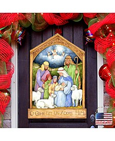 by Susan Winget Holly Family Nativity Wall and Door Decor