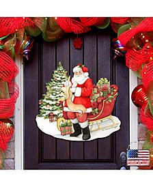 by Susan Winget Classic Christmas Wish List Santa Wall and Door Decor