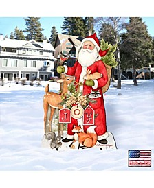 by Susan Winget Woodland Frosty Santa Outdoor, Wall and Lawn Decor