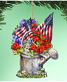by Dona Gelsinger Celebrating The American Freedom Ornament, Set of 2