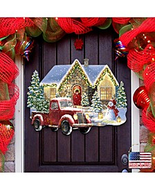 by Dona Gelsinger Christmas Light Lane with Truck Wall and Door Hanger