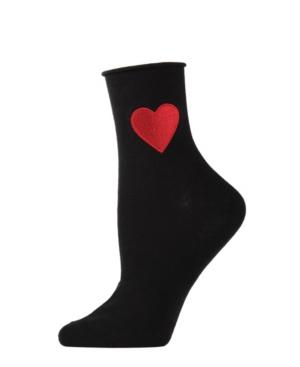 Heart Roll Top Women's Anklet