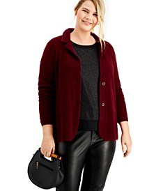 Plus Size Cashmere Blazer, Created for Macy's