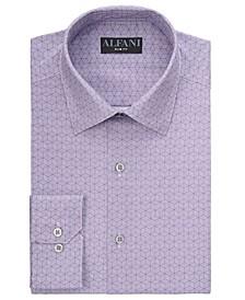 Alfani Men's Slim-Fit Performance Stretch Striped Box Dress Shirt, Created for Macy's
