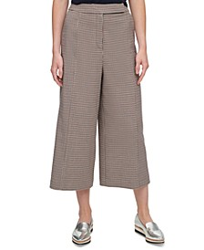 Houndstooth-Print Culottes