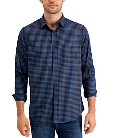 Men's Performance Check Shirt with Pocket, Created for Macy's