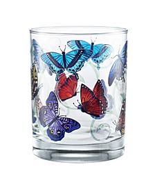 Butterflies DOF Glass, Set of 4
