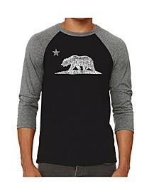 California Bear Men's Raglan Word Art T-shirt