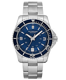 Victorinox Swiss Army Watch, Men's Maverick GS Stainless Steel Bracelet 43mm 241602