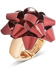 Gold Bow Statement Stretch Ring, Created for Macy's