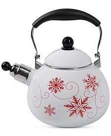 NEW! Enamel-on-Steel Whistling Tea Kettle