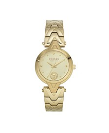 Women's Forlanni Gold Tone Stainless Steel Bracelet Watch 30mm