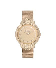 Women's Mouffetard Rose Gold Tone Stainless Steel Bracelet Watch 38mm