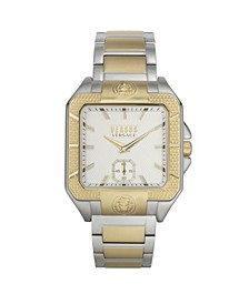 Men's Teatro Gold and Silver Tone Stainless Steel Bracelet Watch 49mm