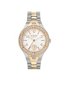 Women's Vittoria Silver and Rose Gold Tone Stainless Steel Bracelet Watch 38mm