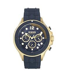 Men's Volta Blue Silicone Strap Watch 49mm